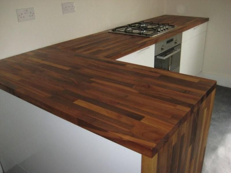 Walnut Worktops And Cupboard Edging Solid Wood Kitchen Worktops