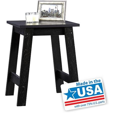 Sauder Beginnings Collection Side Table Black Home Furniture Lounge Living Or Bedroom Furnitures End Finish That Matches A Variety