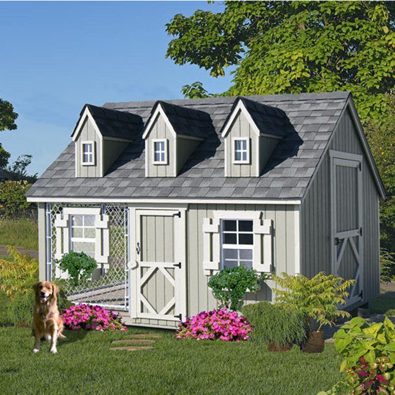 Little Cottage Cape Cod Cozy Cottage Kennel Dog House 8x10 Cck
