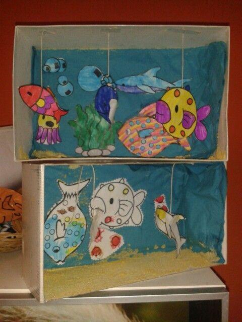 Un bell'acquario in una scatola di scarpe fatto all'Ikea:)