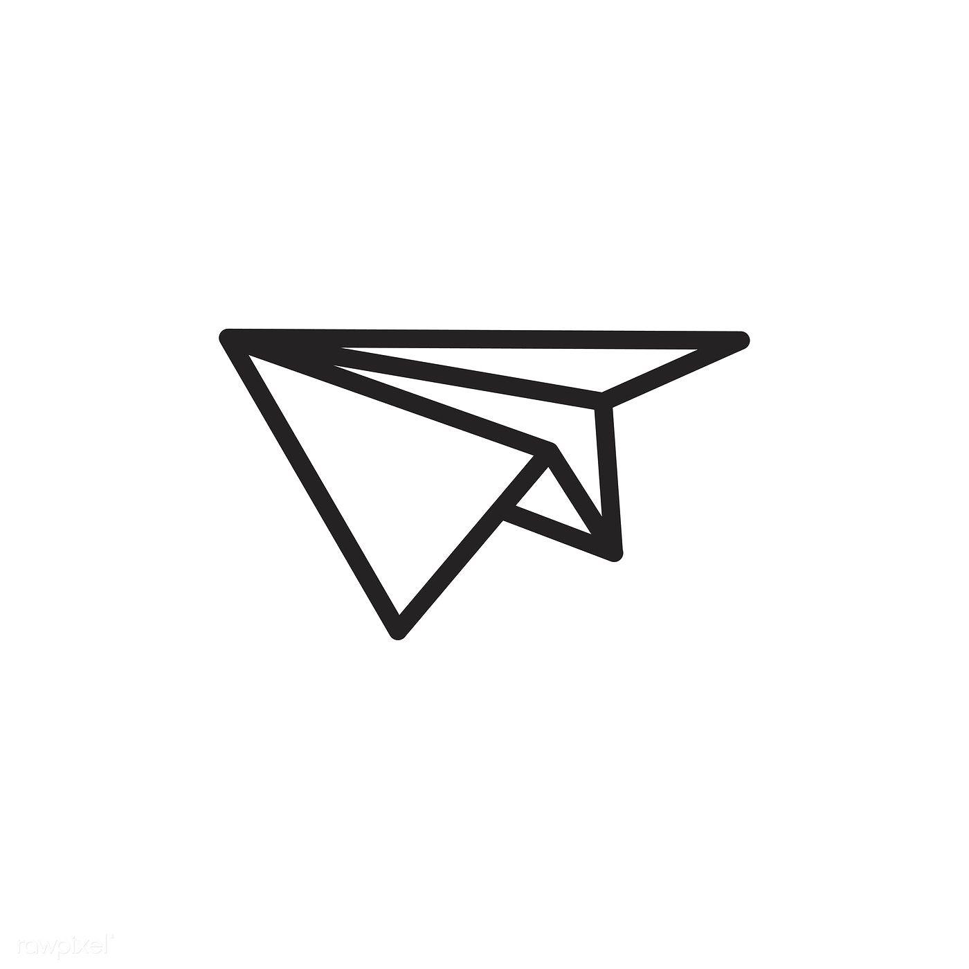 Paper Plane Icon Vector Free Image By Rawpixel Com Plane Icon