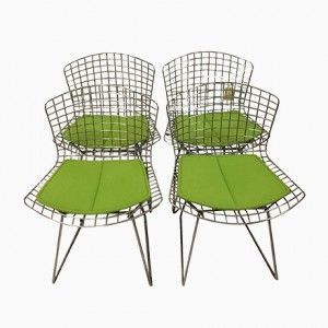 American Side Chairs by Harry Bertoia for Knoll International, 1950s, Set of 4