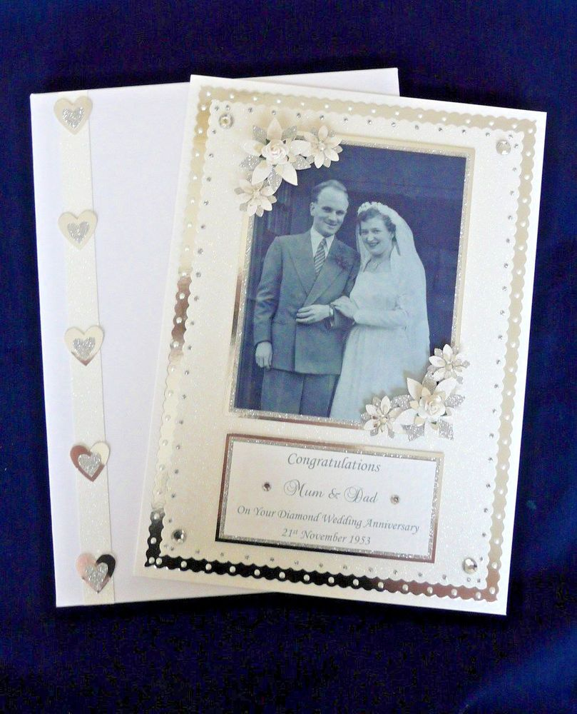 Details about Personalised Diamond 60th Wedding