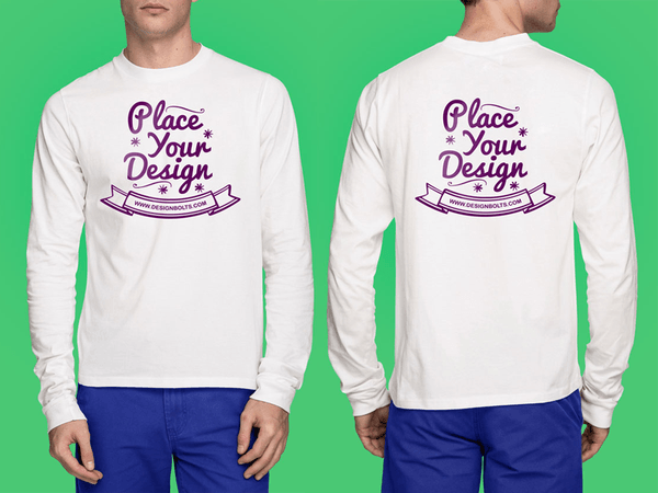 Download White T Shirt Mockup Psd Full Sleeves Shirt Mockup Cool T Shirts Tshirt Mockup