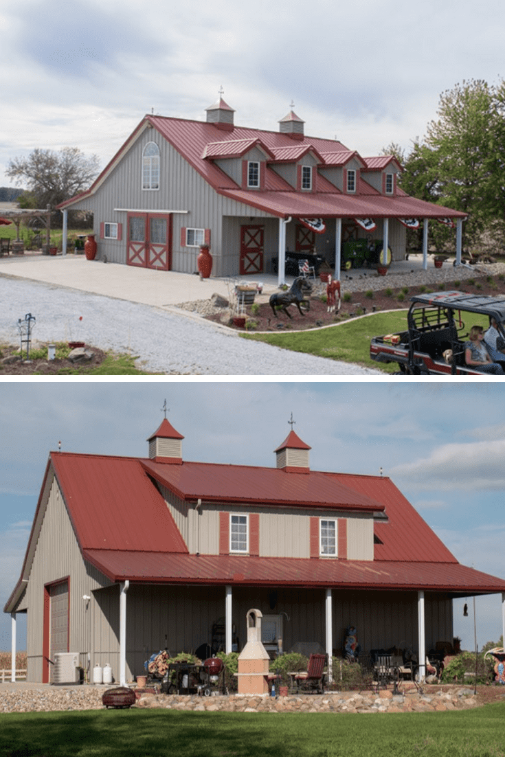 50+ Metal Pole Barns You Are Going To Love - House Topics #polebarnhouses