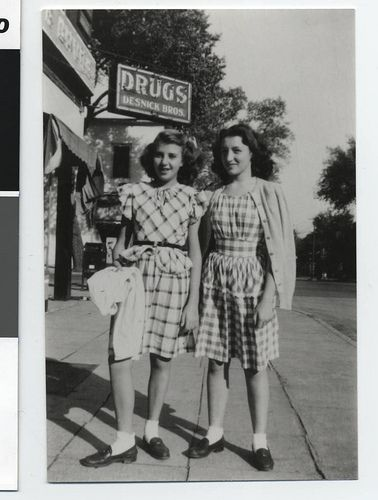1946 gingham on the street