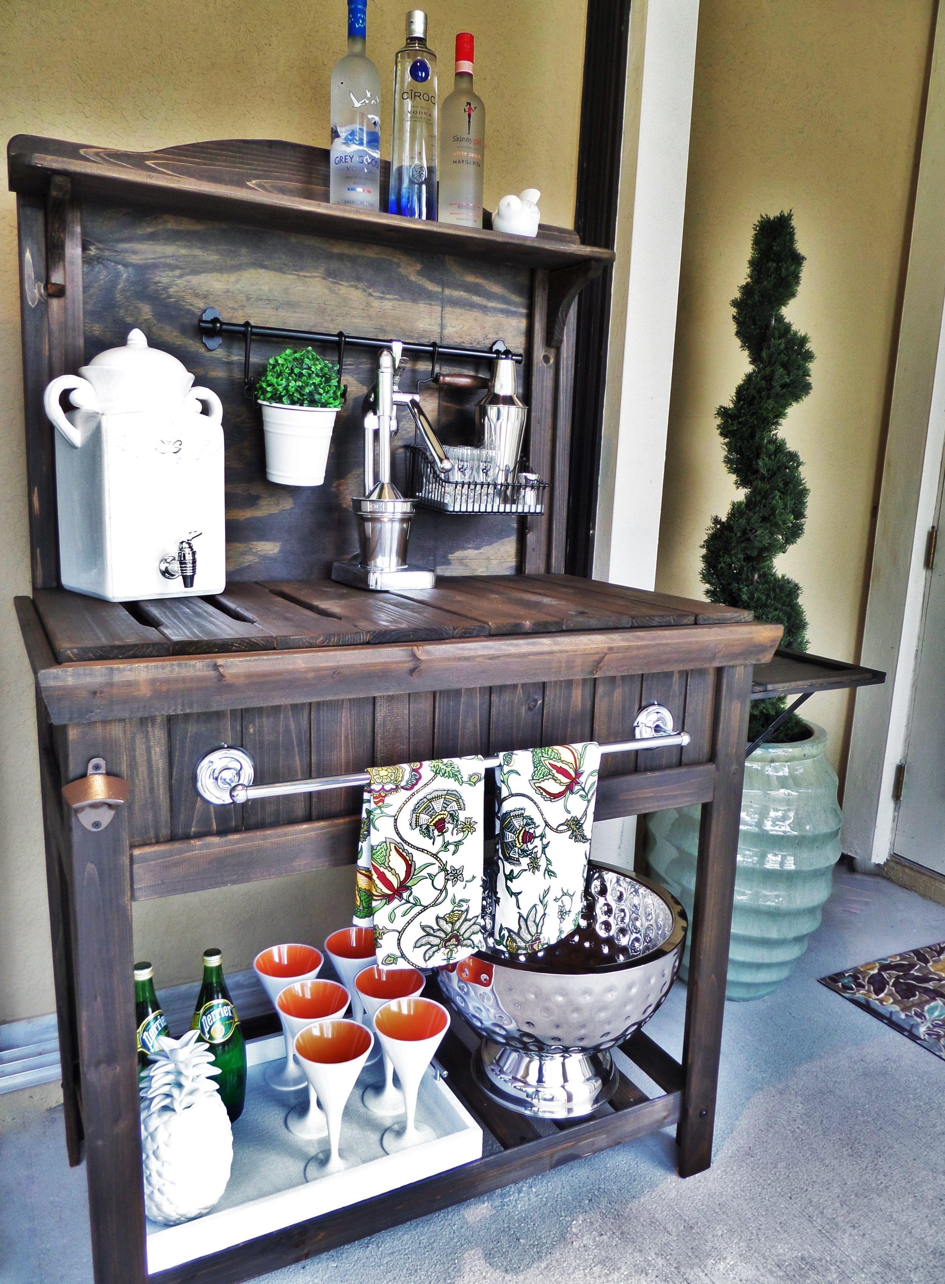 Diy Potting Bench Turned Outdoor Bar Backyard Ideas And