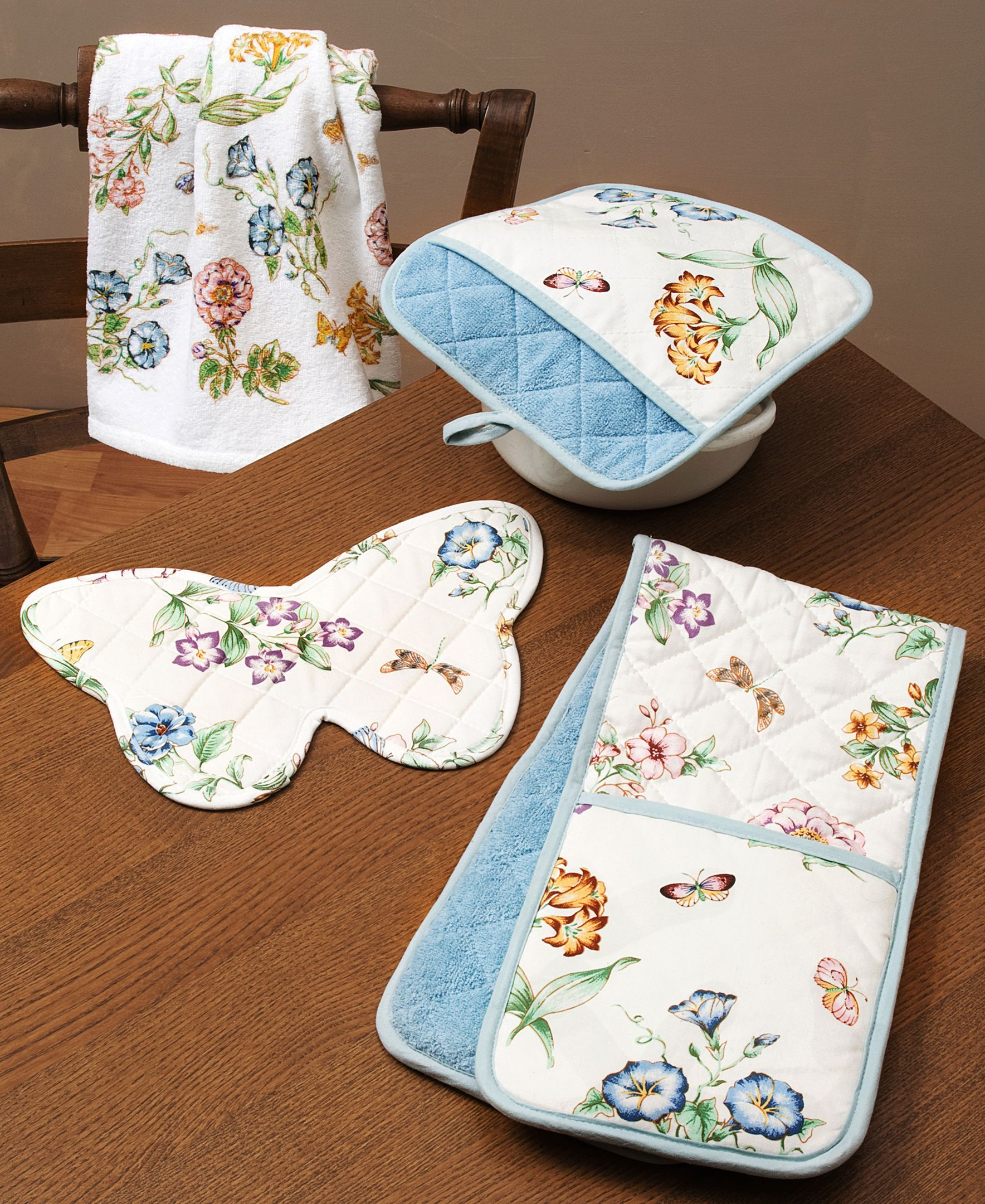 Lenox Butterfly Meadow Kitchen Towel Cristaleria Vajillas