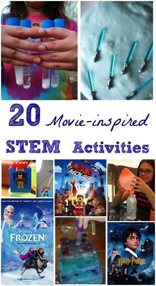 engineering activities inspired by favorite kids movies - connect science experiments and STEM acti