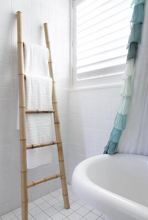 Bamboo Ladder Towel Rack