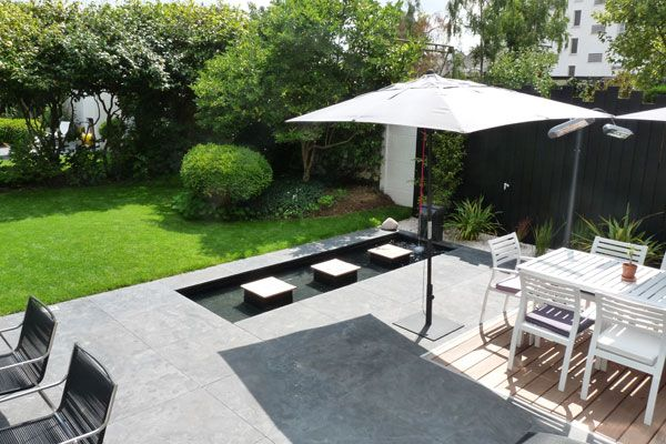 Un jardin contemporain épuré avec terrasses (Jardins de ...