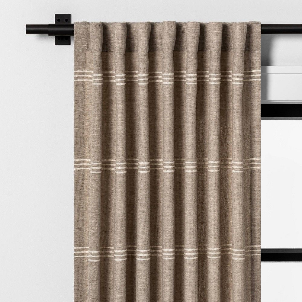 95 Bold Stripe Curtain Panel Taupe Hearth Hand With Magnolia In 2020 Striped Curtains Panel Curtains Hearth Hand With Magnolia