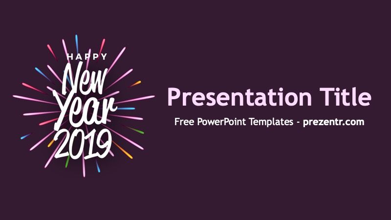 Free New Year 2019 Powerpoint Template Prezentr Ppt