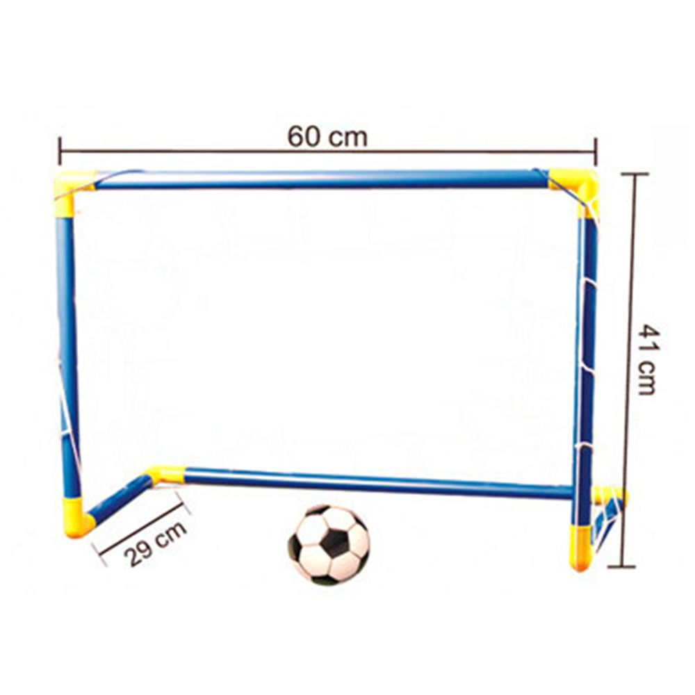 60cm Mini Football Soccer Ball Goal Folding Post Net Set Pump Kids Sport Indoor Outdoor Games Toys Kids Birthday New Year Gift Original Global Version Product Kids Sports New Year