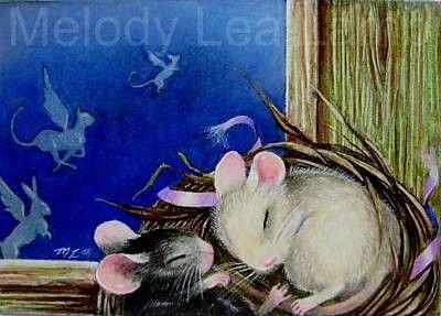 Muizen in een Nest Childrens boekillustratie door door MelodyLeaLamb
