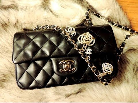 93dce48d8a33 2014 UNBOXING Black CHANEL Mini Valentine's LIMITED EDITION Charms Flap Bag  Black 14P - YouTube