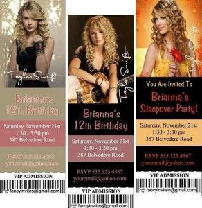 Invitation ideassome can be found on ebay Taylor Swift