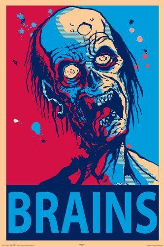 NMR 24969 Zombie Brains Decorative Poster NMR http://www.amazon.com/dp/B003YCIVS4/ref=cm_sw_r_pi_dp_C4qfwb180BF22