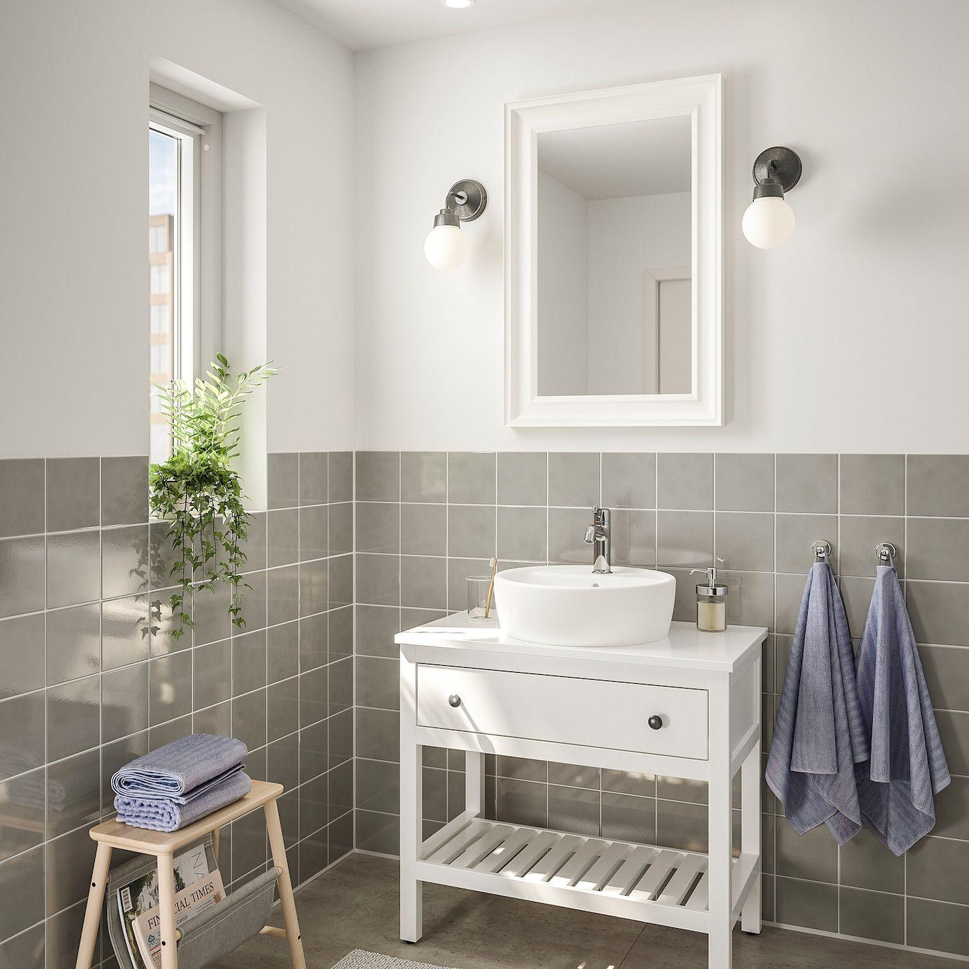 Hemnes Tornviken Badeinrichtung 4 Tlg Weiss Voxnan Mischbatterie Bad Einrichten Ikea Badezimmer Mischbatterien
