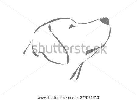 Labrador Head In Profile Looking Up Kamene Pinterest Animal