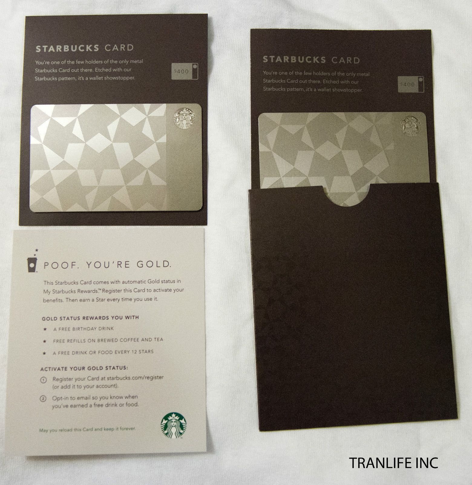 Starbucks Limited Edition Metal Gift Card Stainless Steel $0