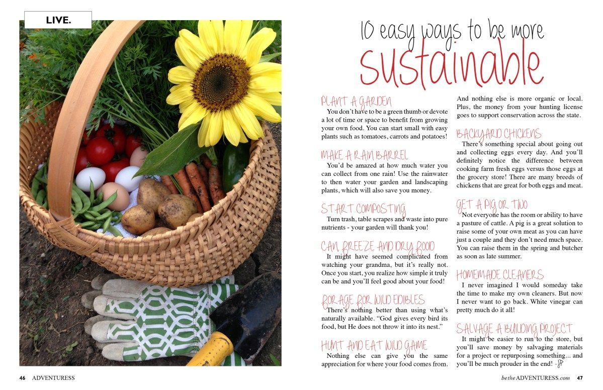 10 Ways to be More Sustainable Grow your own food