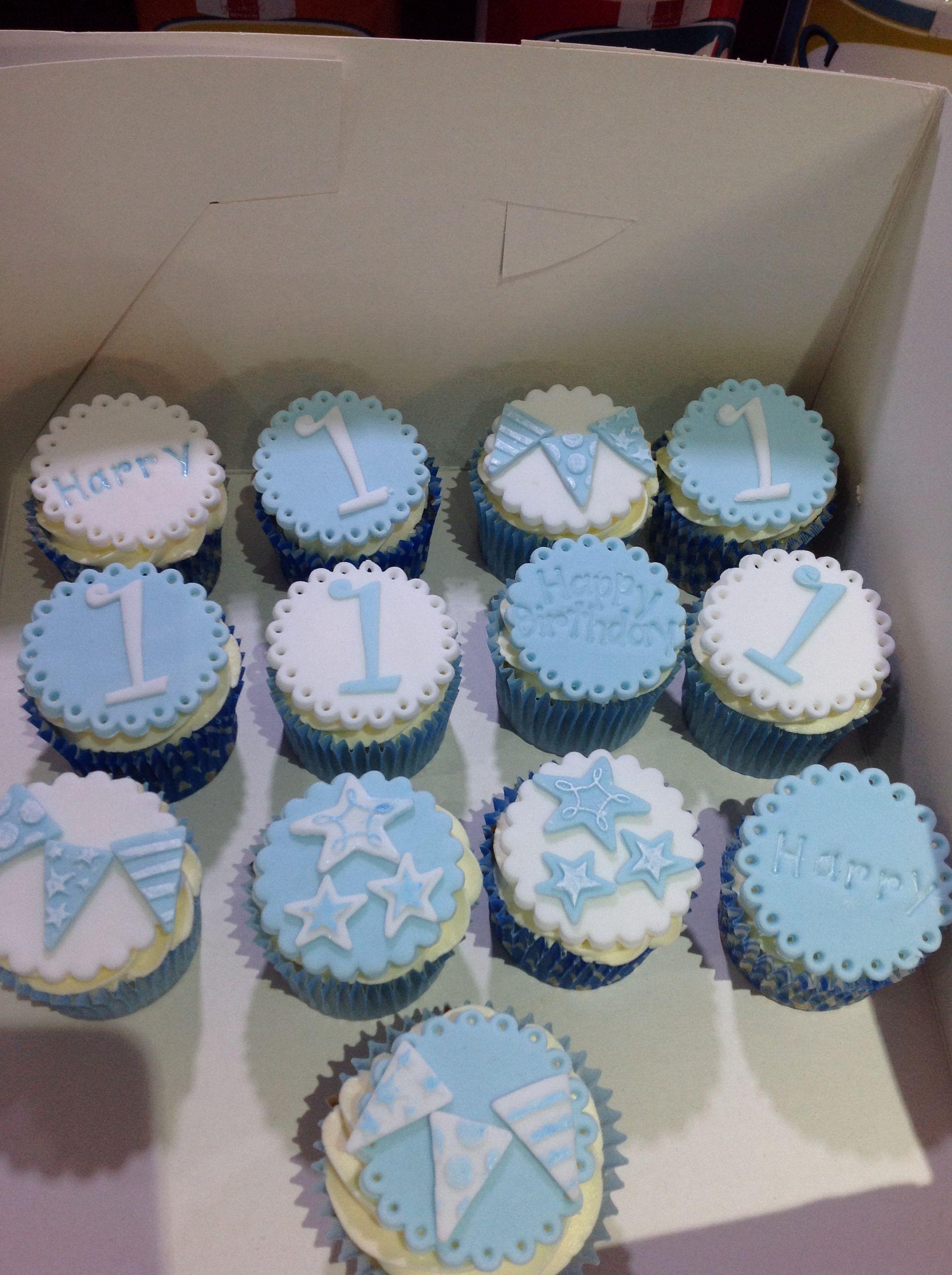 1st birthday cupcakes boy fondant creations pinterest cupcakes