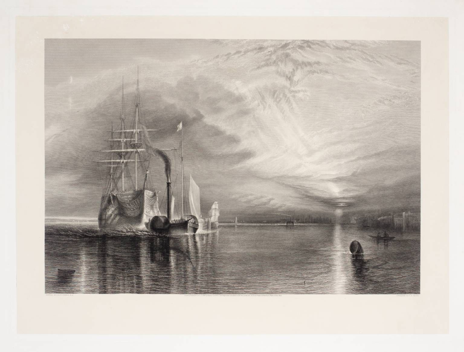 After Joseph Mallord William Turner, 'The Fighting Téméraire, engraved by T.A. Prior' published 1886