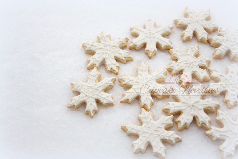 Buy Online Custom Elegant Hand Piped Snowflake Cookies For A