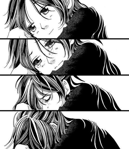 Most popular tags for this image include manga anime and - Manga couple triste ...
