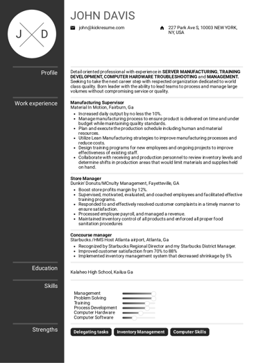 1050 Resume Samples From Real Professionals Who Got Hired Kickresume Resume Examples Sales Resume Examples Good Resume Examples