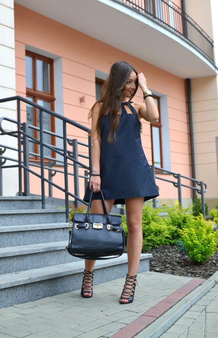 Little Black Dress.  #Dresses #Totes #Heels & Wedges