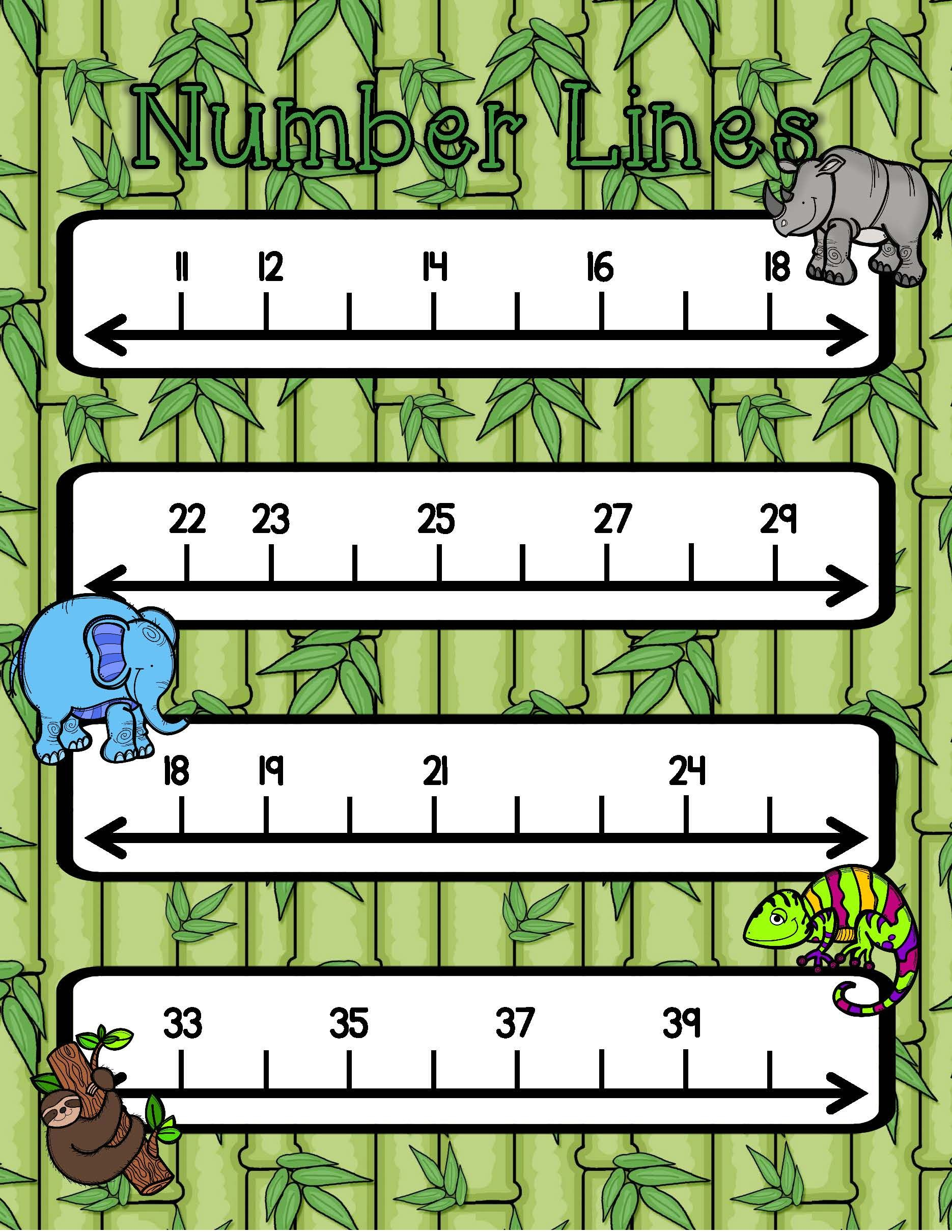 Counting And Number Lines Ccs 1 Oa 5 1 Nbt 1