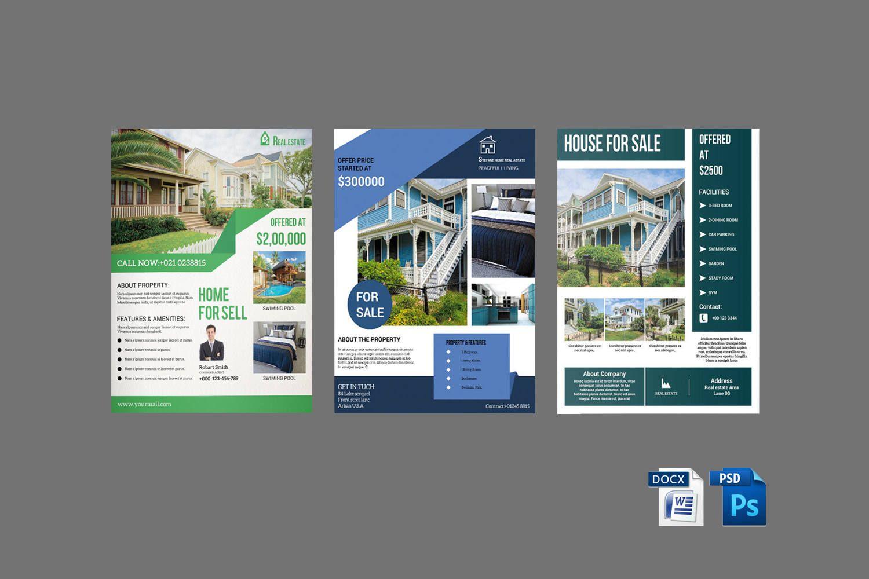 Real Estate Flyer Template Real Estate Flyer Bundle Relator Flyer