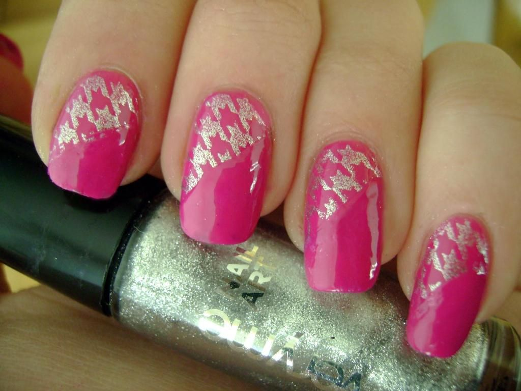 Nail Art Ideas » Pink And Silver Nail Art Designs - Pictures of Nail ...