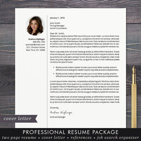 Resume Template - CV Template for Word, Mac or PC, Professional - resume templates word mac
