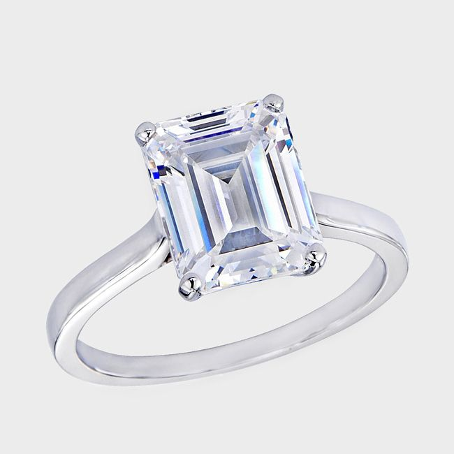 17 Best Images About Jewelry On Pinterest Models Diamond. 27 10 Tcw Emerald  Cut Cubic Zirconia Engagement Anniversary Ring In Platinum Over Sterling