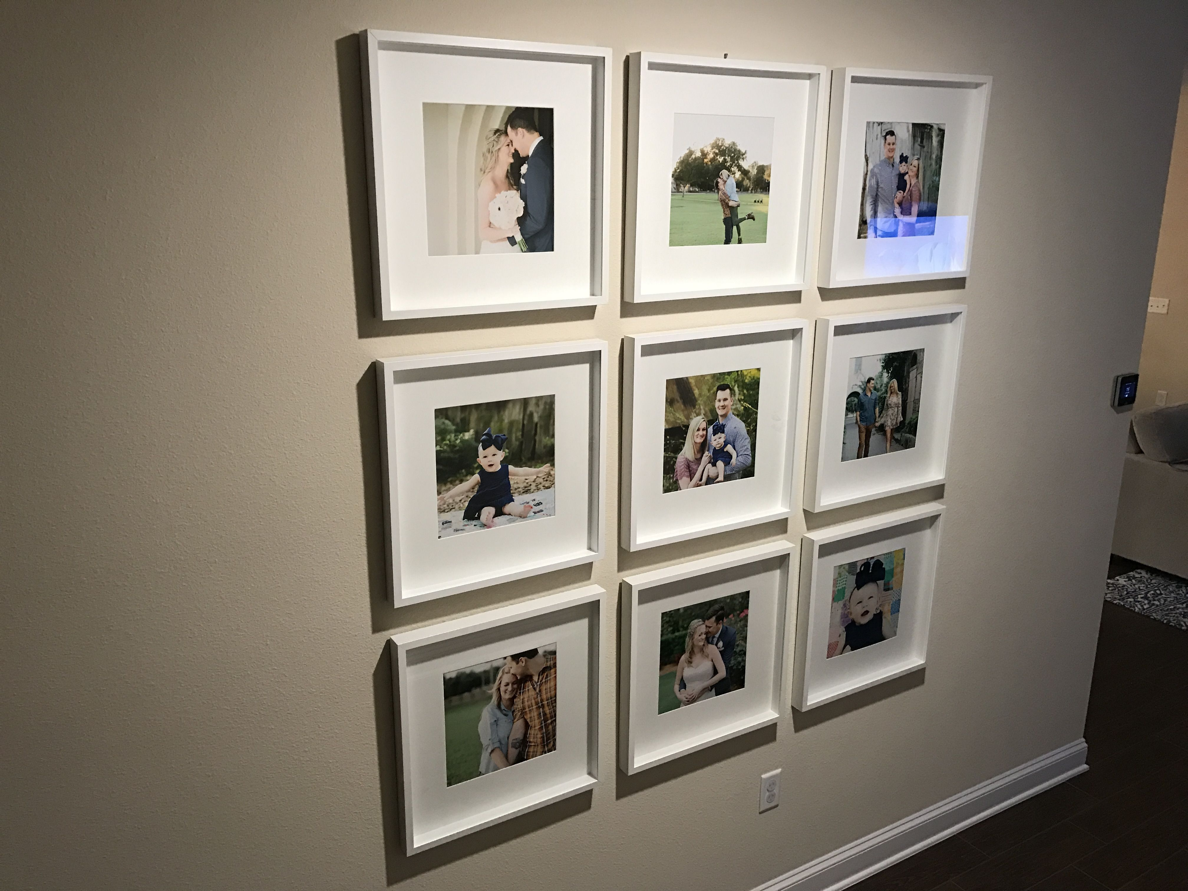 Ikea picture frames to cover a large wall Ikea picture