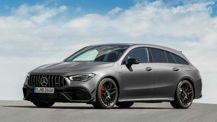 Mercedes Amg Cla 45 Shooting Brake Debuts Its Shapely Long Roof