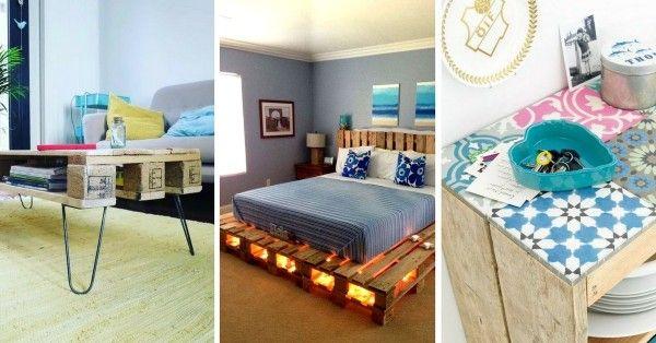 Voici 11 Idées Originales pour Customiser vos Meubles en Palette - meuble en fer design