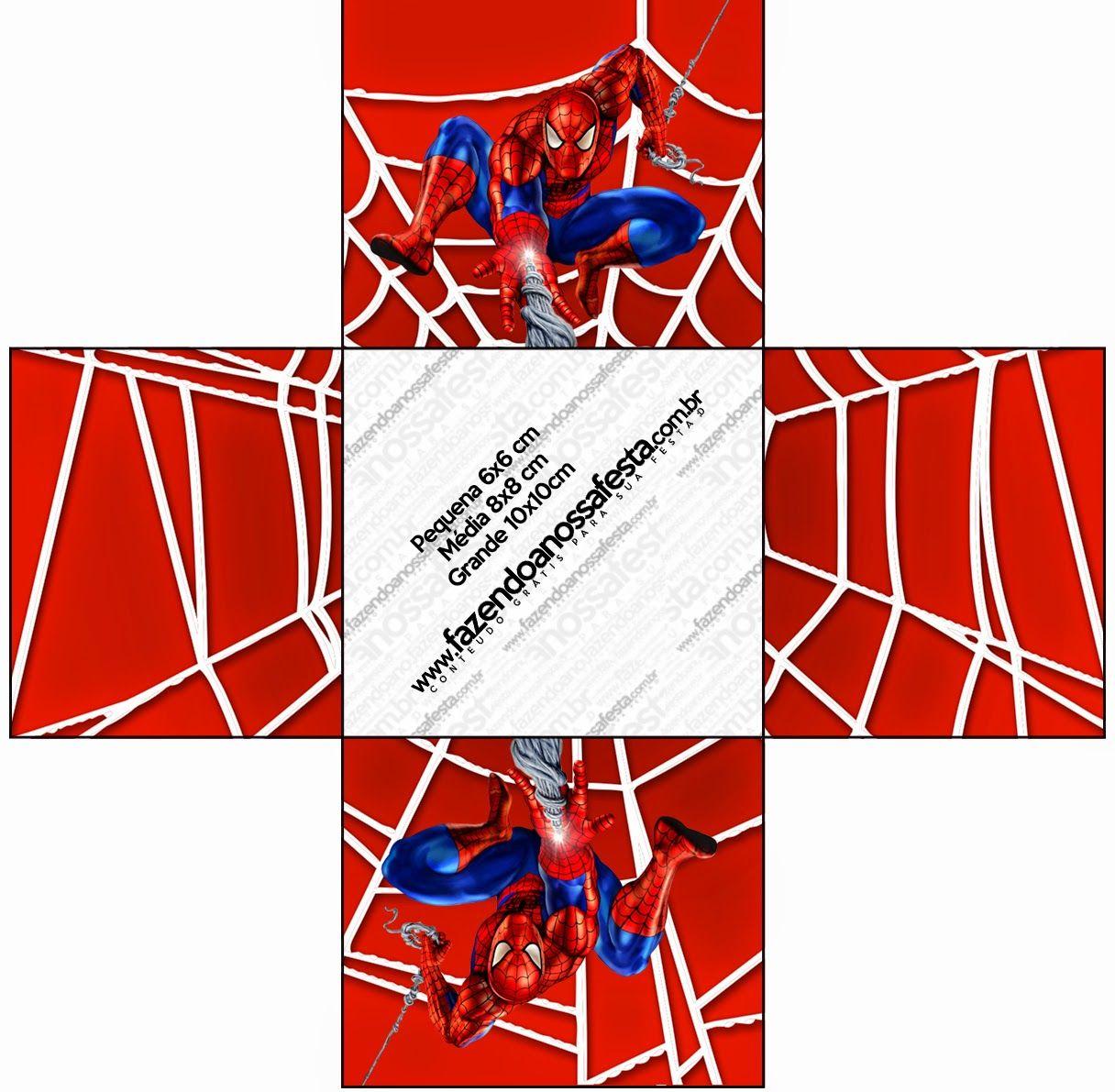 Spiderman Cajas Para Imprimir Gratis