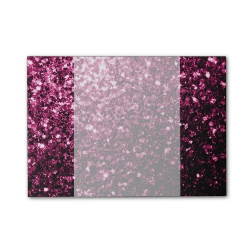 SOLD Beautiful Pink sparkles print Post-it® Notes by #PLdesign #PinkSparkles #SparklesGift