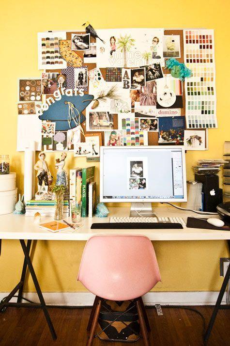 Tremendous Light Yellow Office Pink Chair White Desk Office Studio Download Free Architecture Designs Griteanizatbritishbridgeorg