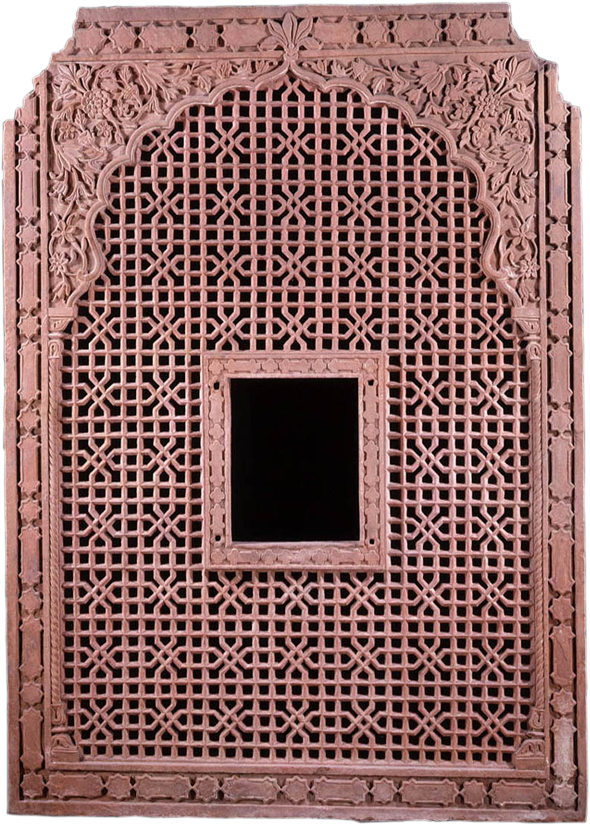 Lattice Window - India (Mughal), 18th Century - Carved and ...