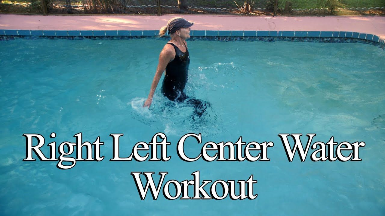 Right Left Center Water Workout Youtube Water Exercises Workout Water