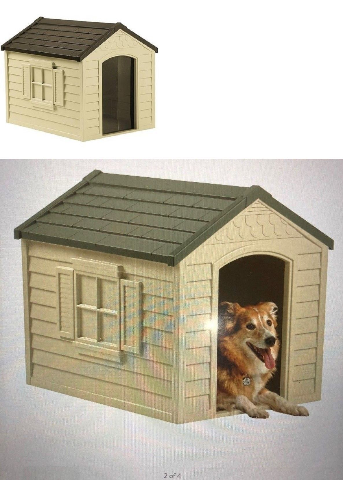 Dog Houses 108884 Suncast Dh250 Dog House Snap Together Assembly