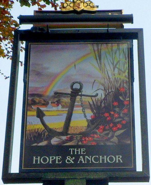 The Hope Anchor Pub Sign Ross On Wye Pub Signs Pub