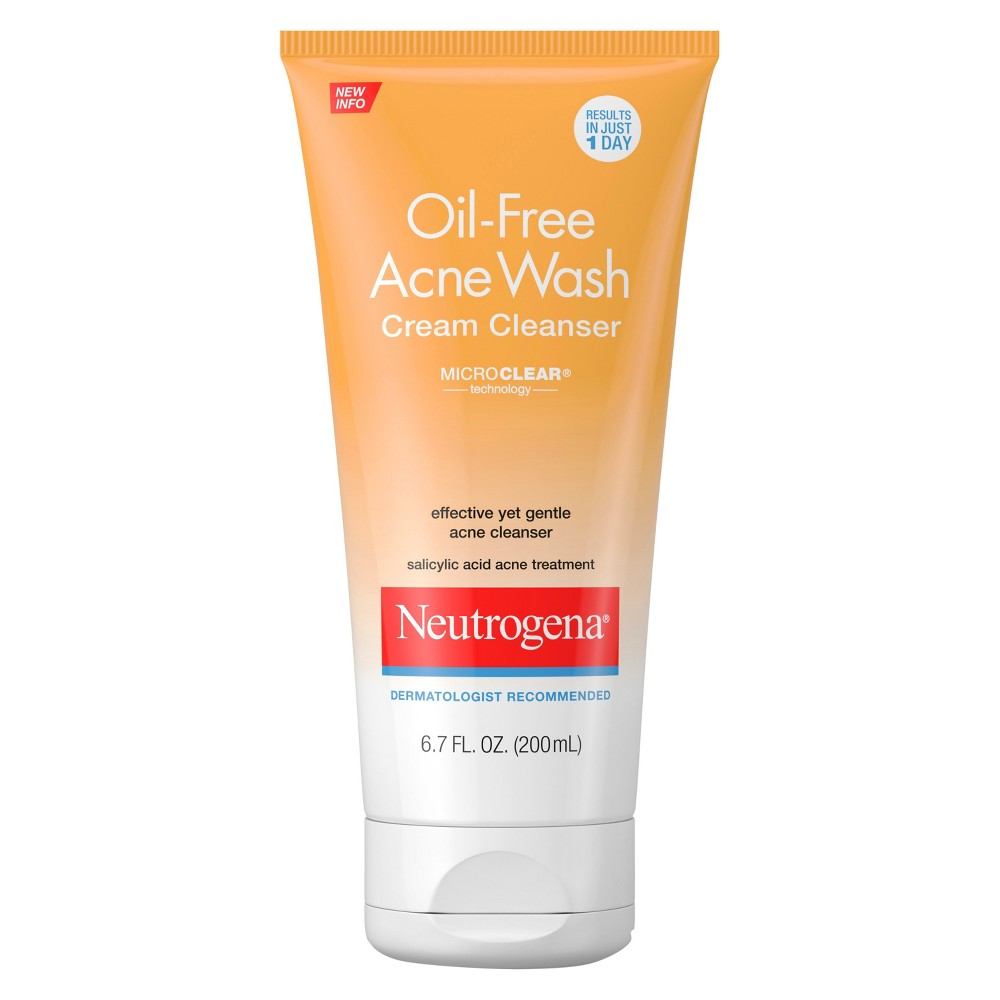 Neutrogena Oil-Free Acne Face Wash Cream Cleanser - 6.7 fl oz
