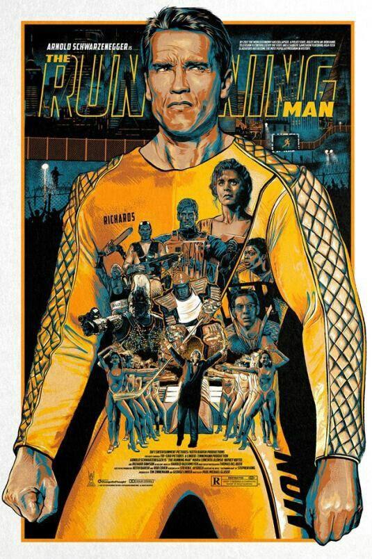 The Running Man Movies Series Pôsteres De Filmes