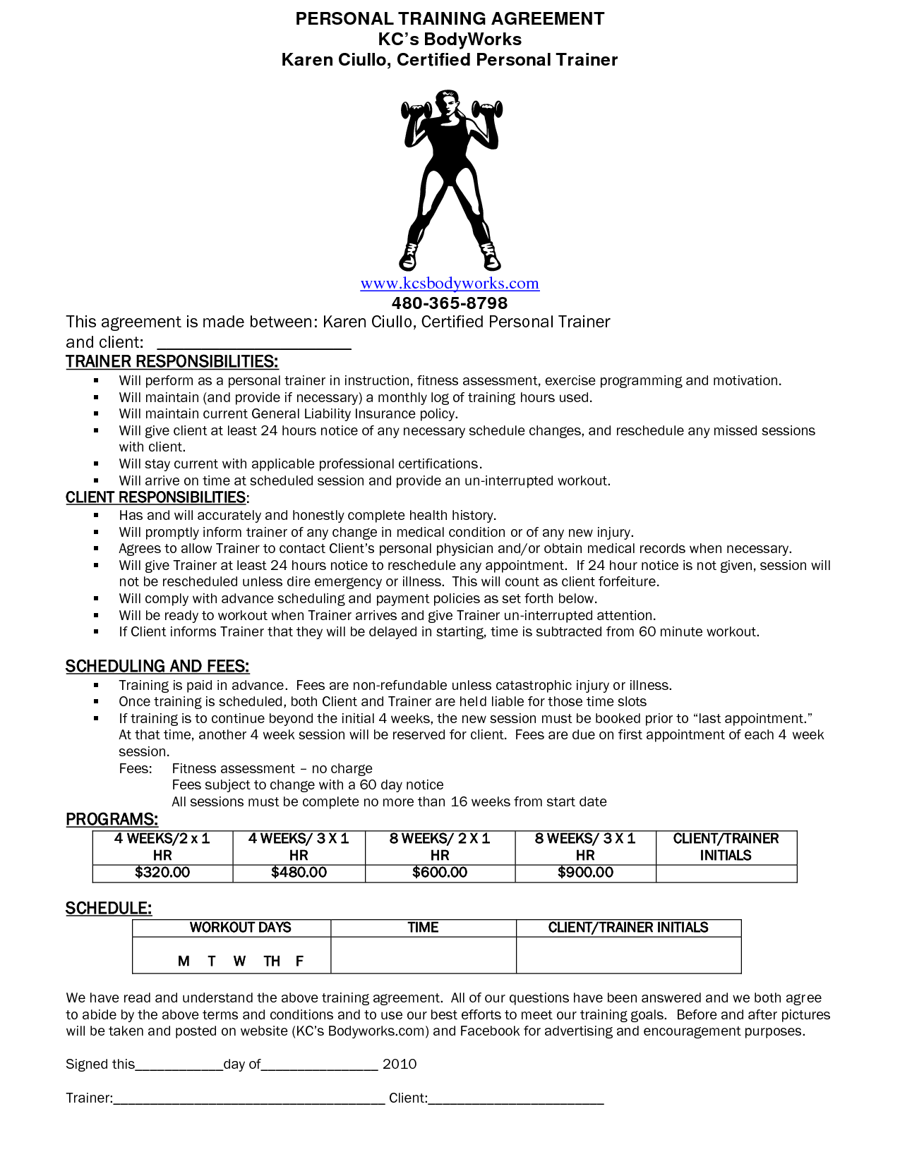 Personal Training Forms images personal training